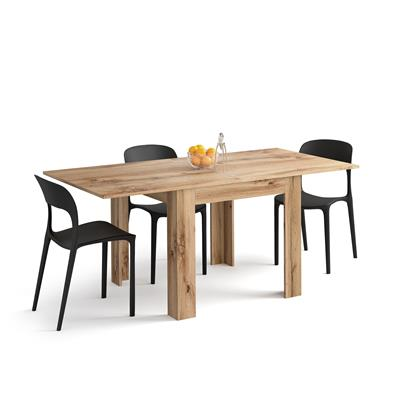 Square extendable dining table, Eldorado, Rustic Wood