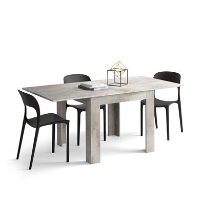 Square extendable dining table, Eldorado, Grey Concrete