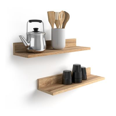A pair of shelves Rachele, 60 cm, Rustic Wood