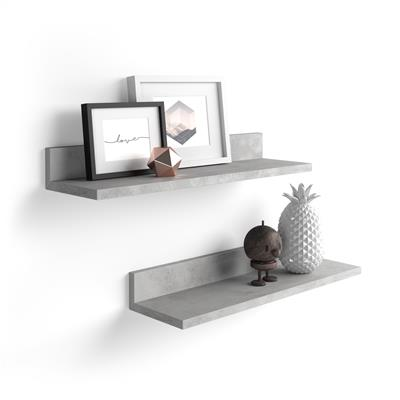 A pair of shelves Rachele, 80 cm, Grey Concrete