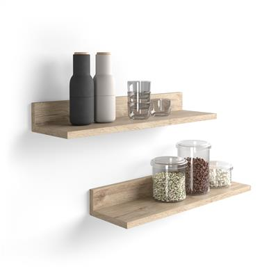 A pair of shelves Rachele, 80 cm, Oak