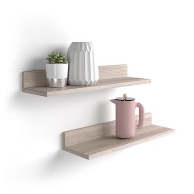 A pair of shelves Rachele, 80 cm, Pearled Elm