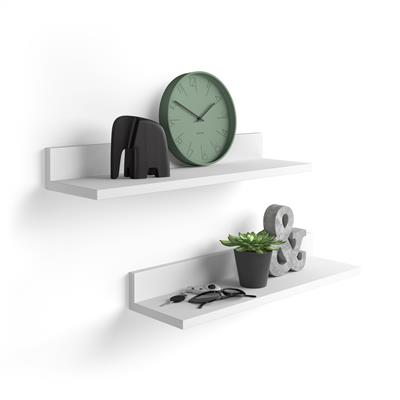A pair of shelves Rachele, 80 cm, White Ash
