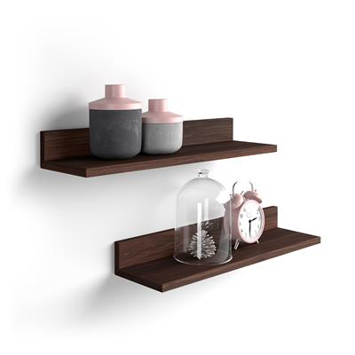 A pair of shelves Rachele, 80 cm, Dark Oak
