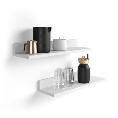 A pair of shelves Rachele, 80 cm, Opaque White