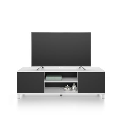 Rachele TV Stand, White Ash and Black Ash