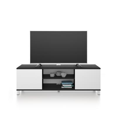 Rachele TV Stand, Black Ash and White Ash