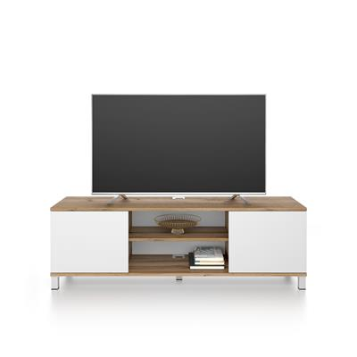 Rachele TV Stand, Rustic Wood - White Ash