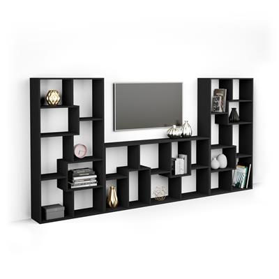 Iacopo TV wall unit, Black Ash