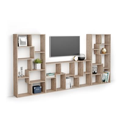 Iacopo TV wall unit, Oak