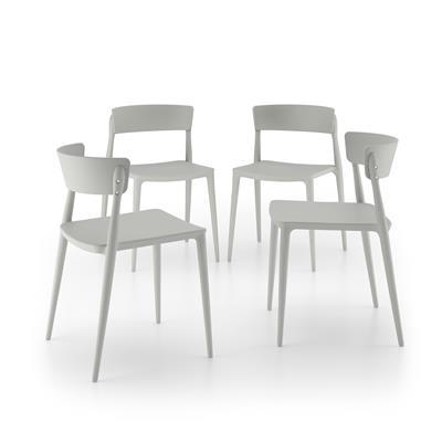 Matilde Kitchen Chairs, 4-piece set, Gray