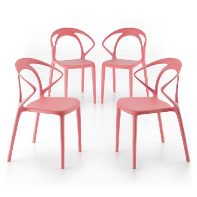 4 piece set of Olivia design lounge chairs, Pink