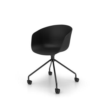 Clara office chair with wheels, black