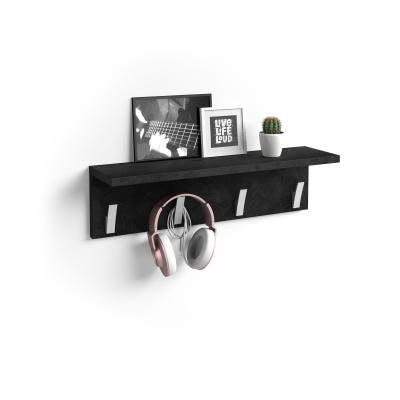 Perchero de pared Rachele, 60cm, cemento negro