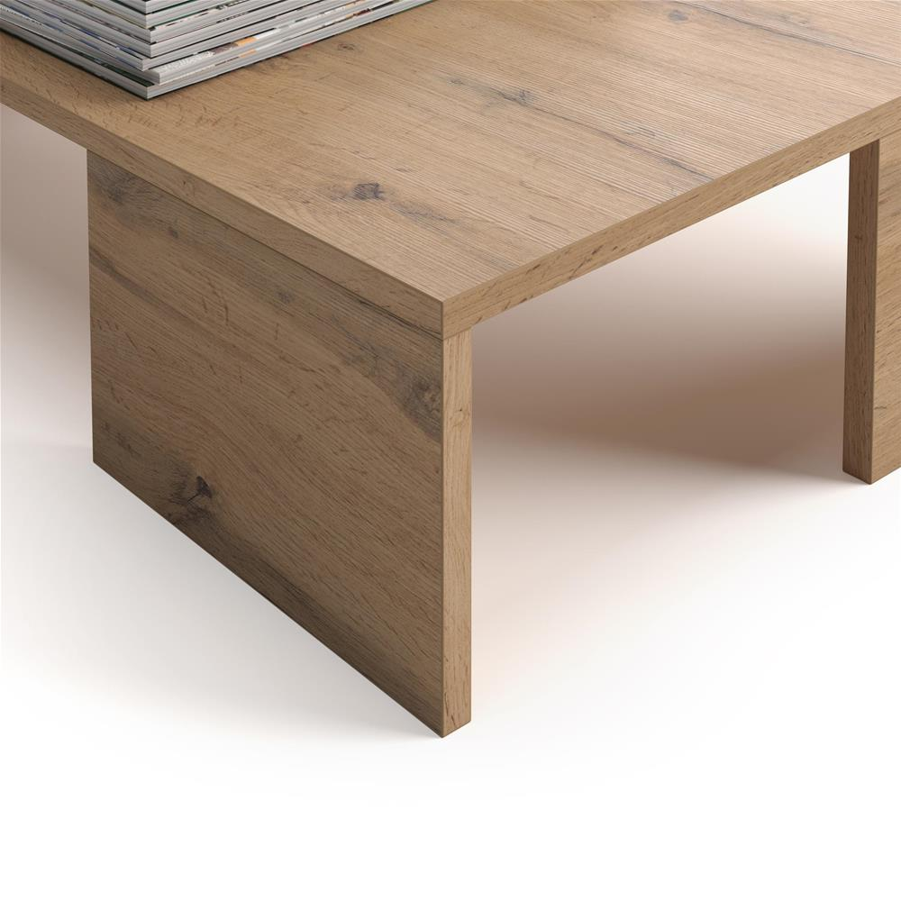 Tavolino da salotto rachele rovere rustico mobili fiver for Salotto rustico