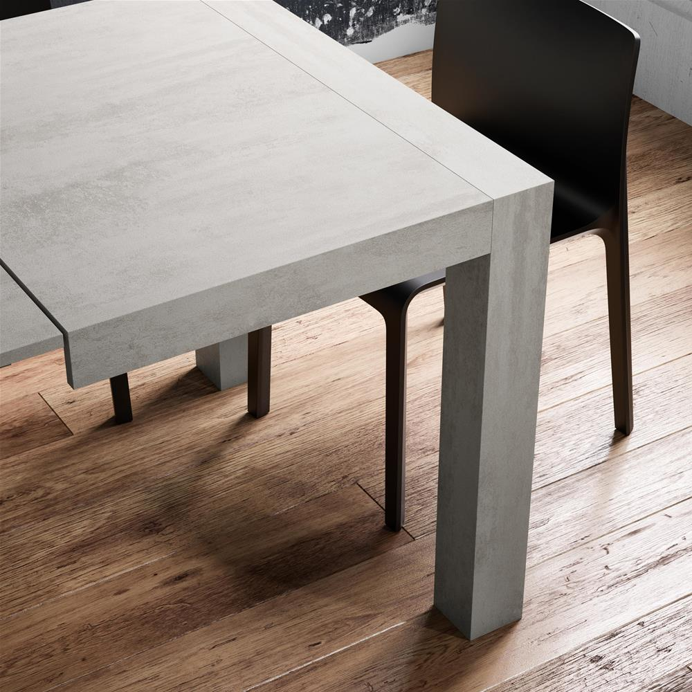 Mesa de cocina extensible, modelo Iacopo, color Madera Rustica