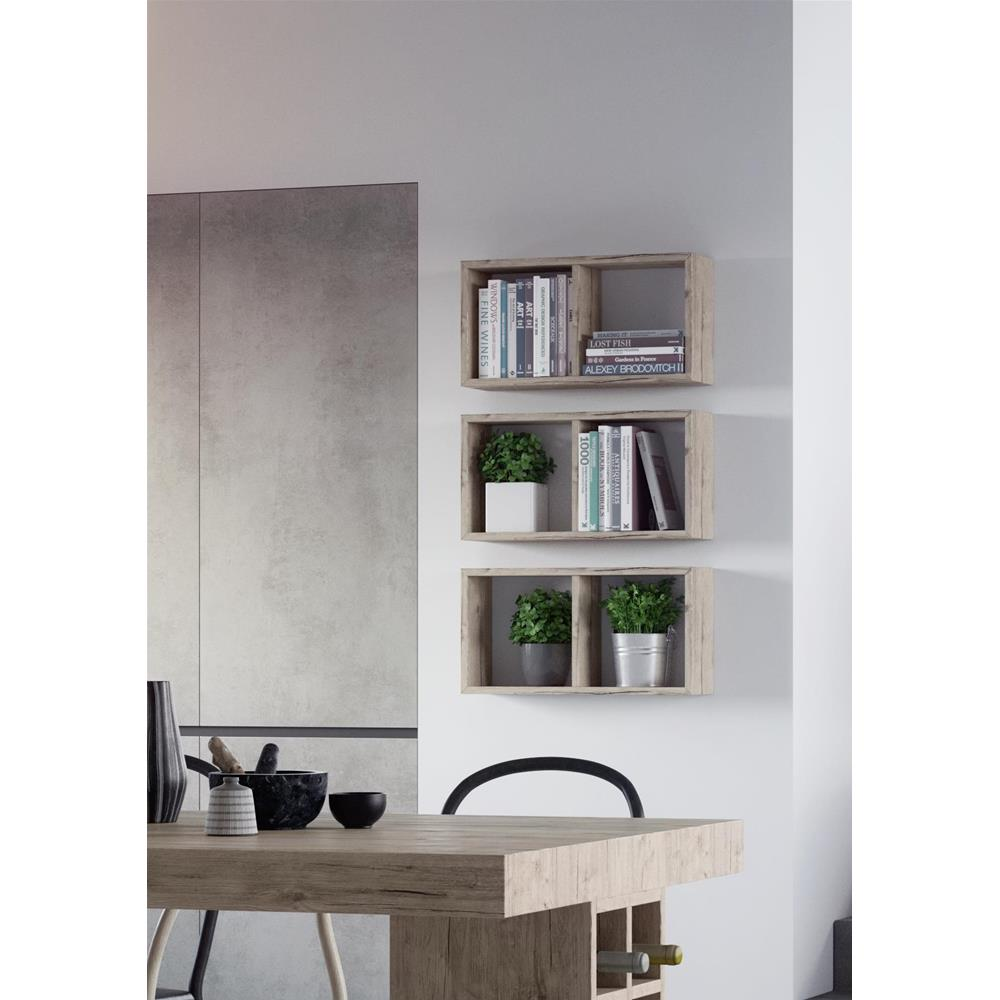 Wall Mounted Cube Shelves First Laminate Faced Concrete