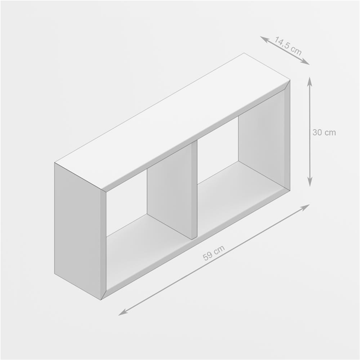 Mencufcem Wall Mounted Cube Shelves 59x30 Cm First