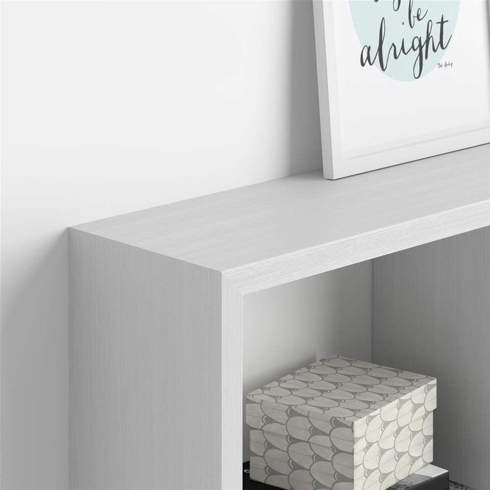 Wall-mounted cube shelves, First, Laminate-faced, White Ash
