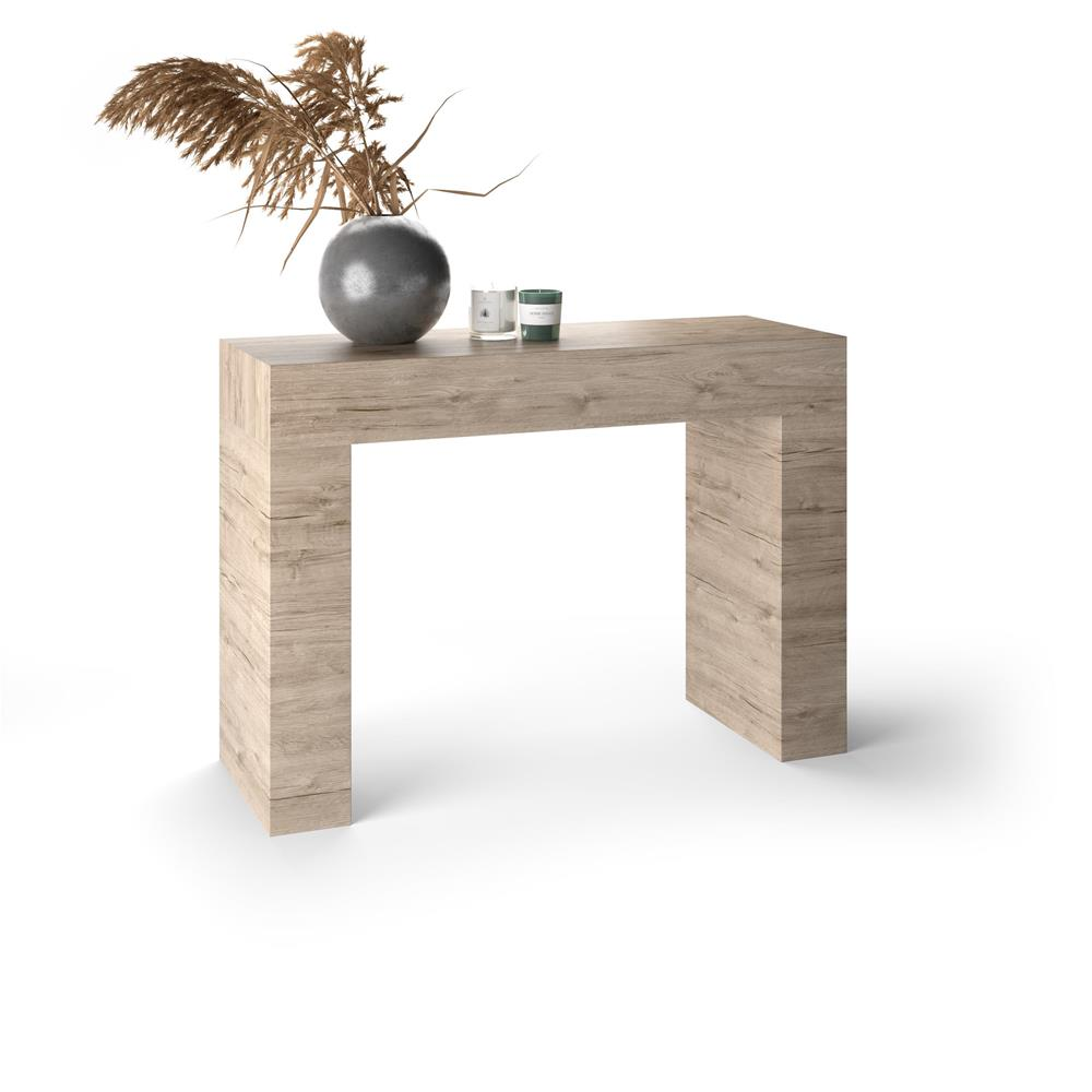 Table console, Evolution, Chêne naturel