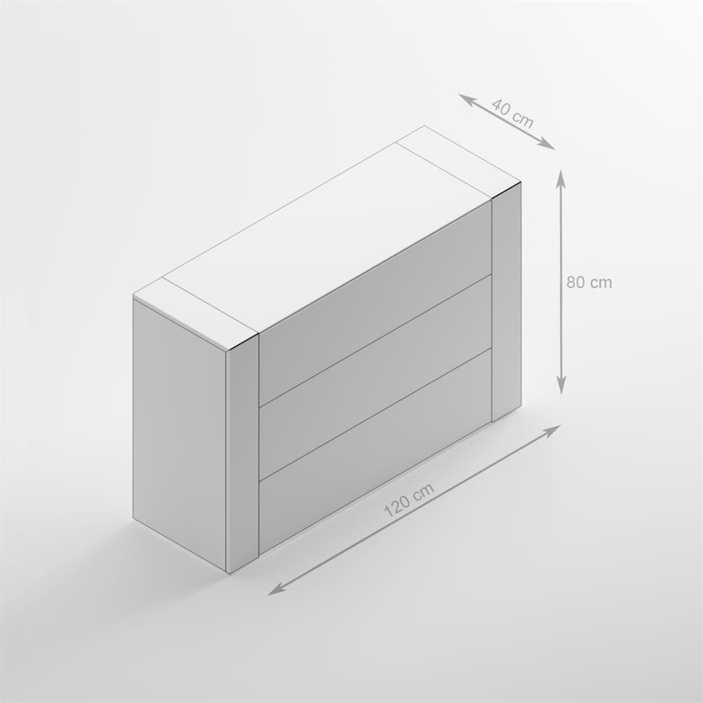 Madia con piano in vetro iacopo quercia mobili fiver for Mobili in quercia
