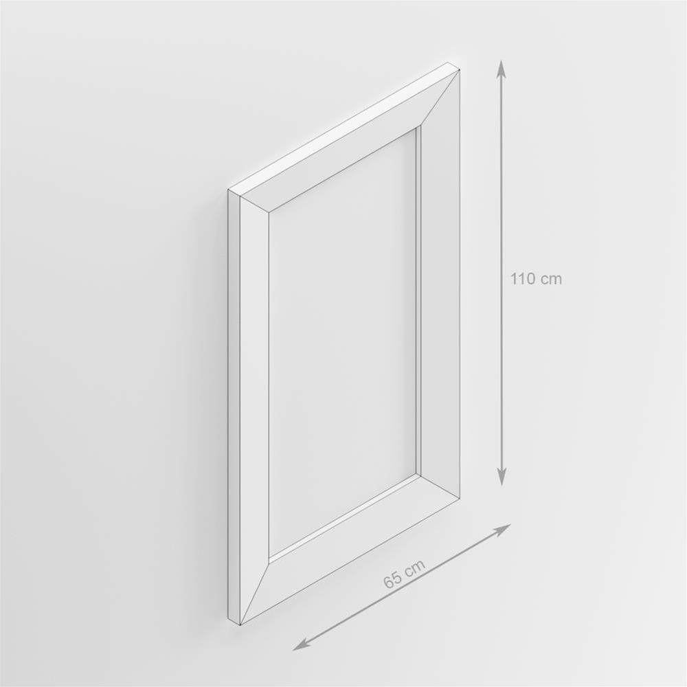 Rechteckiger Wandspiegel, Rahmen aus schwarzer Esche, Giuditta 110 ...