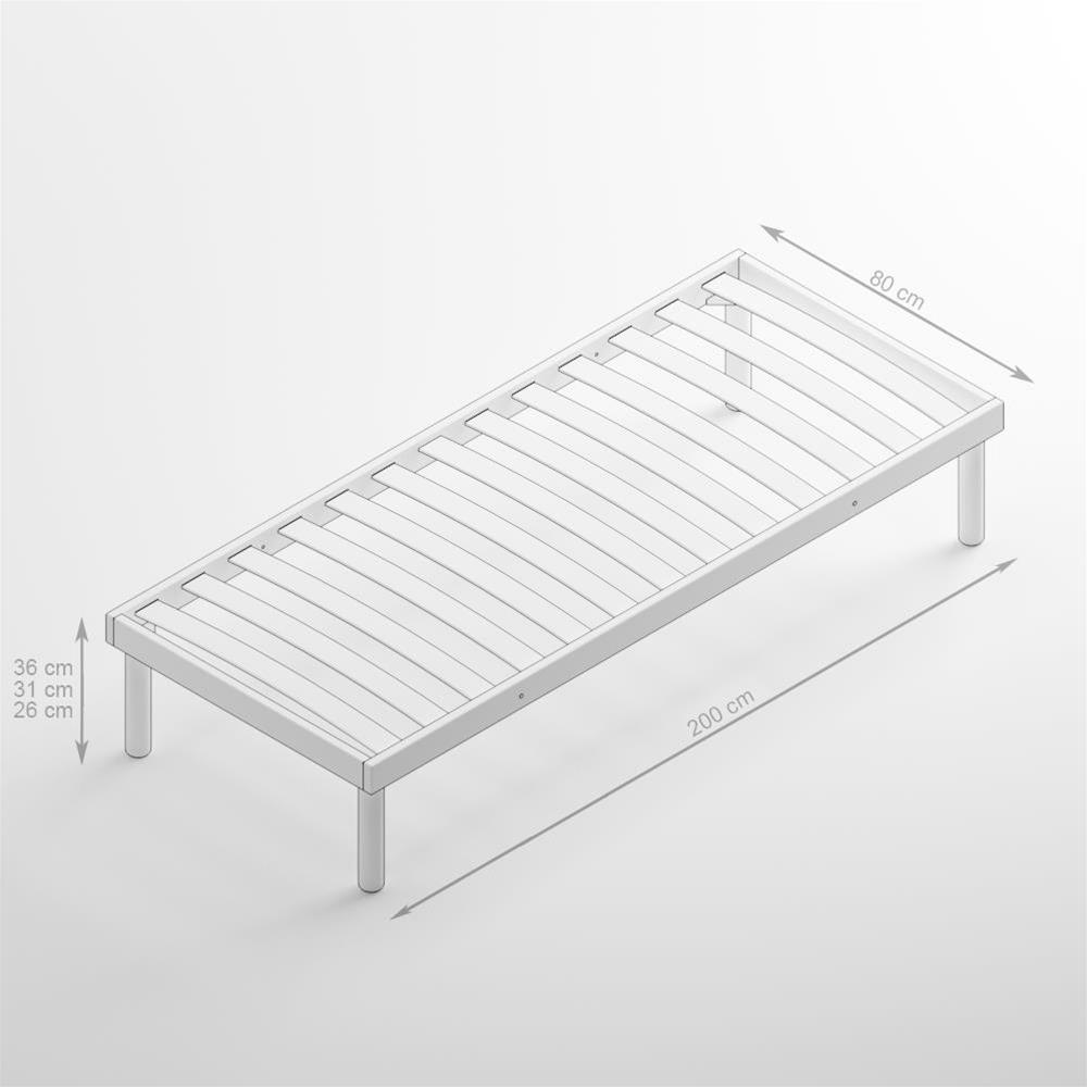 Wunderschön Lattenrost 80x200 Referenz Von Einzelbett Holz 36h