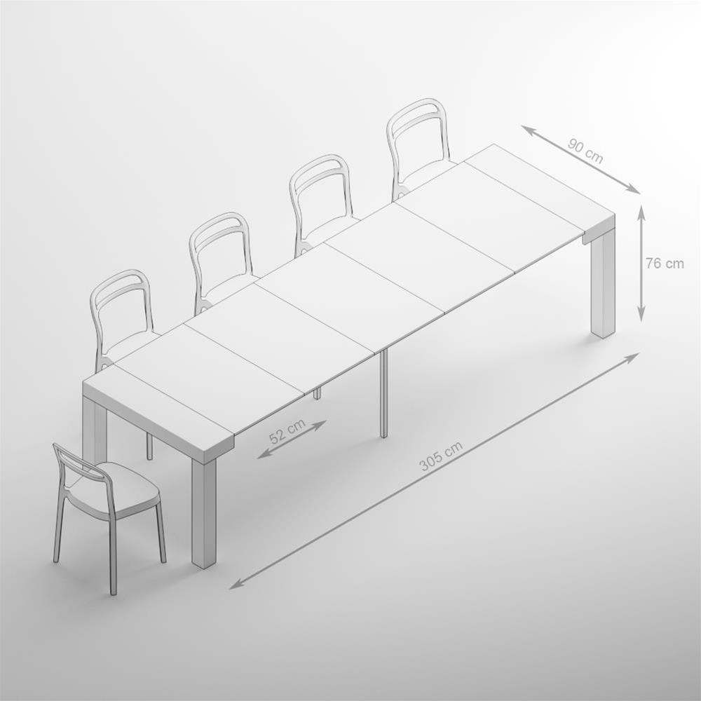 Table Console extensible First, Chêne