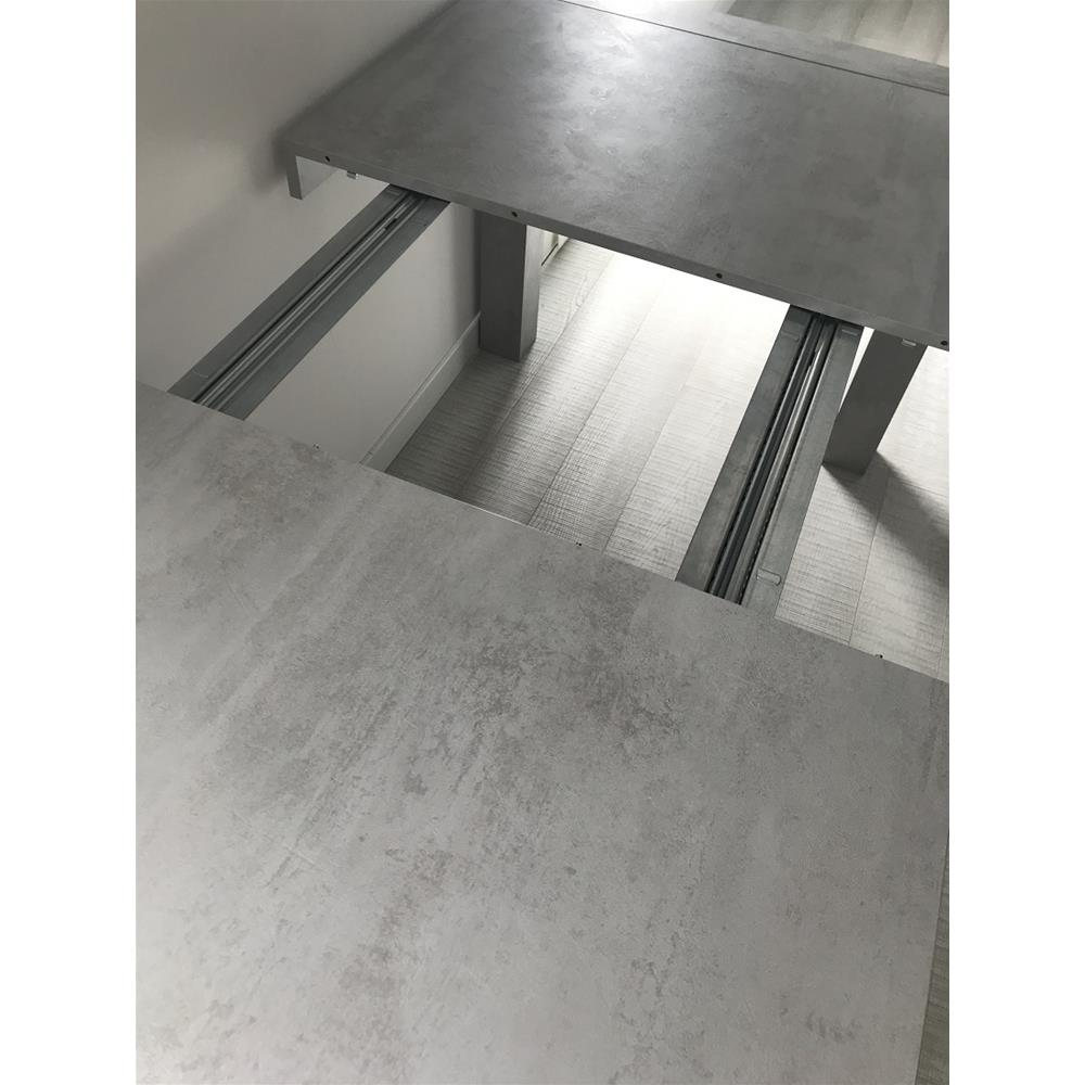 Extendable Kitchen Table, Iacopo, Grey Concrete