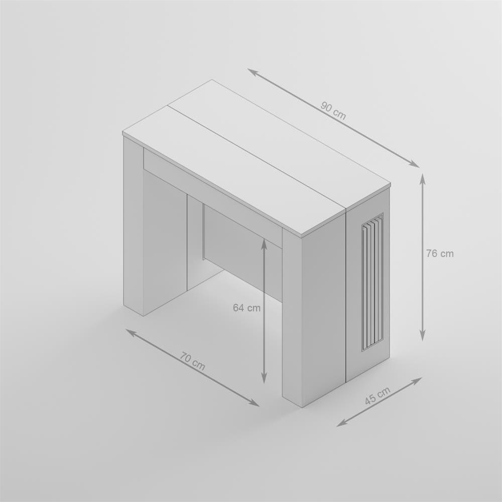 Rallonges IntégréesEasyChêne Extensible Console Avec Table IbWD29YeEH
