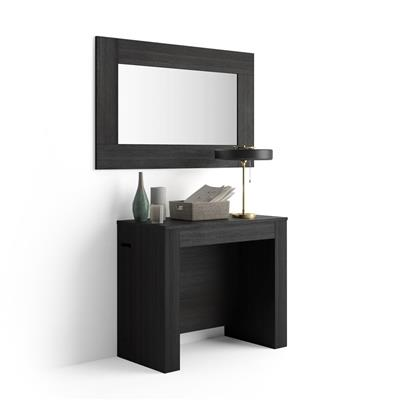 Extending Console Table with extension holder, Easy, Black Ash