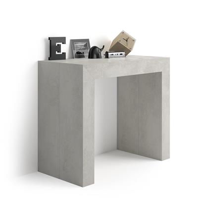 Extendable Console Table Angelica, Grey Concrete