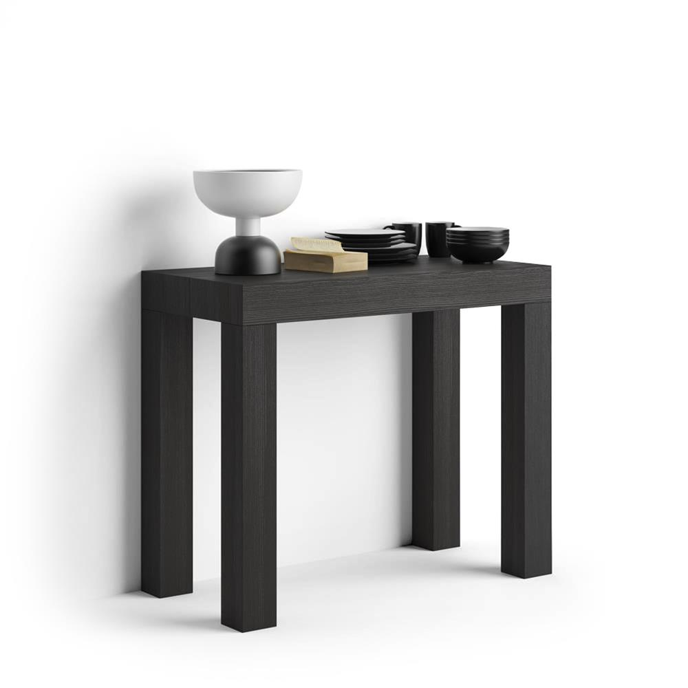 table console extensible first fr ne noir mobili fiver. Black Bedroom Furniture Sets. Home Design Ideas