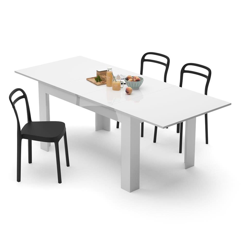 Tavolo allungabile Cucina, Easy, Bianco Lucido | Mobili Fiver