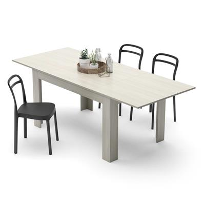 Extendable Kitchen Table, Easy, Pearled Elm