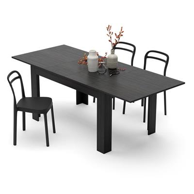 Extendable Dining Table, Easy, Black Ash