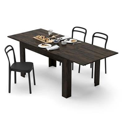 Extendable Dining Table, Easy, Brown Oak