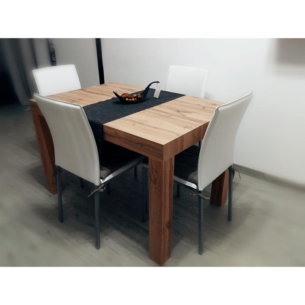 table extensible cuisine first bois rustique mobili fiver. Black Bedroom Furniture Sets. Home Design Ideas