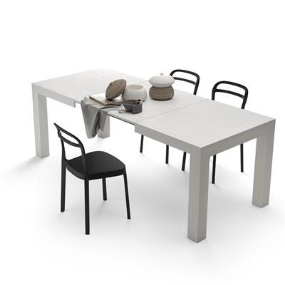Extendable Kitchen Table, Iacopo, White Ash