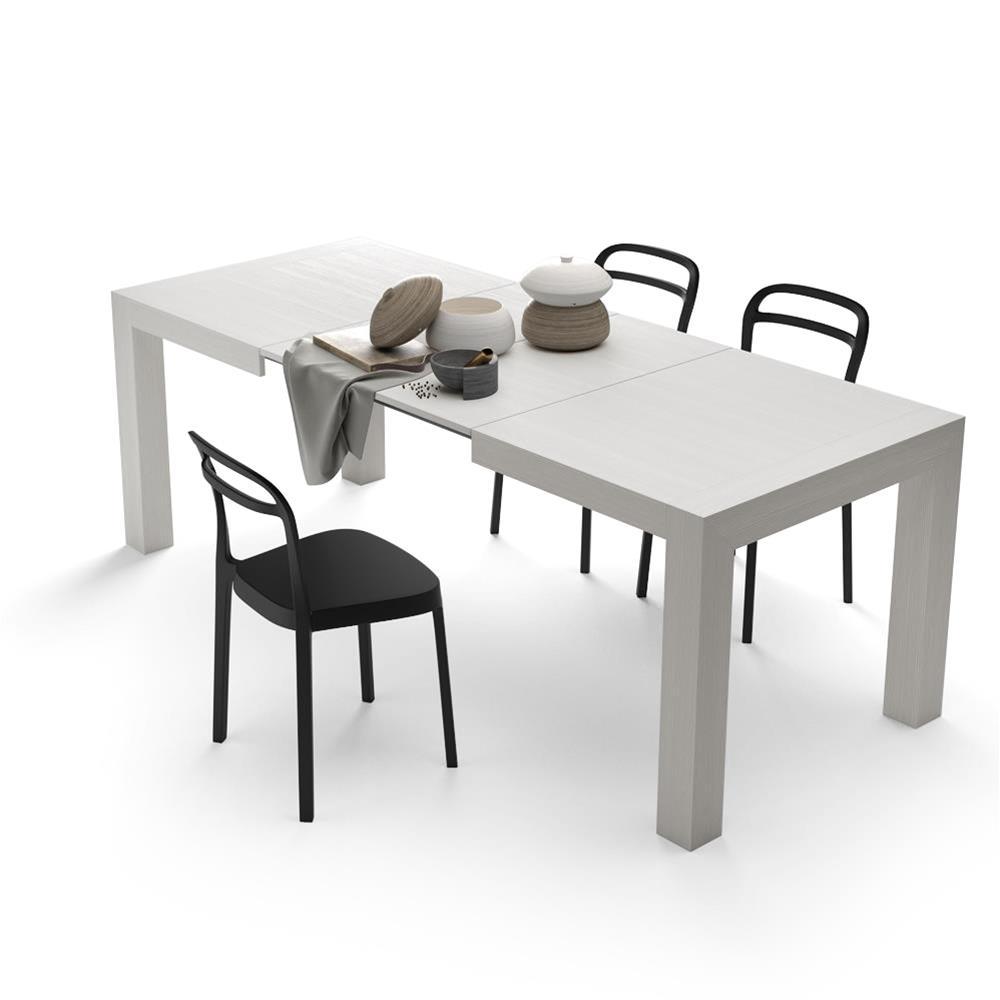 Tavolo Allungabile Per 18 Persone.Tavolo Allungabile Moderno Iacopo Bianco Frassino