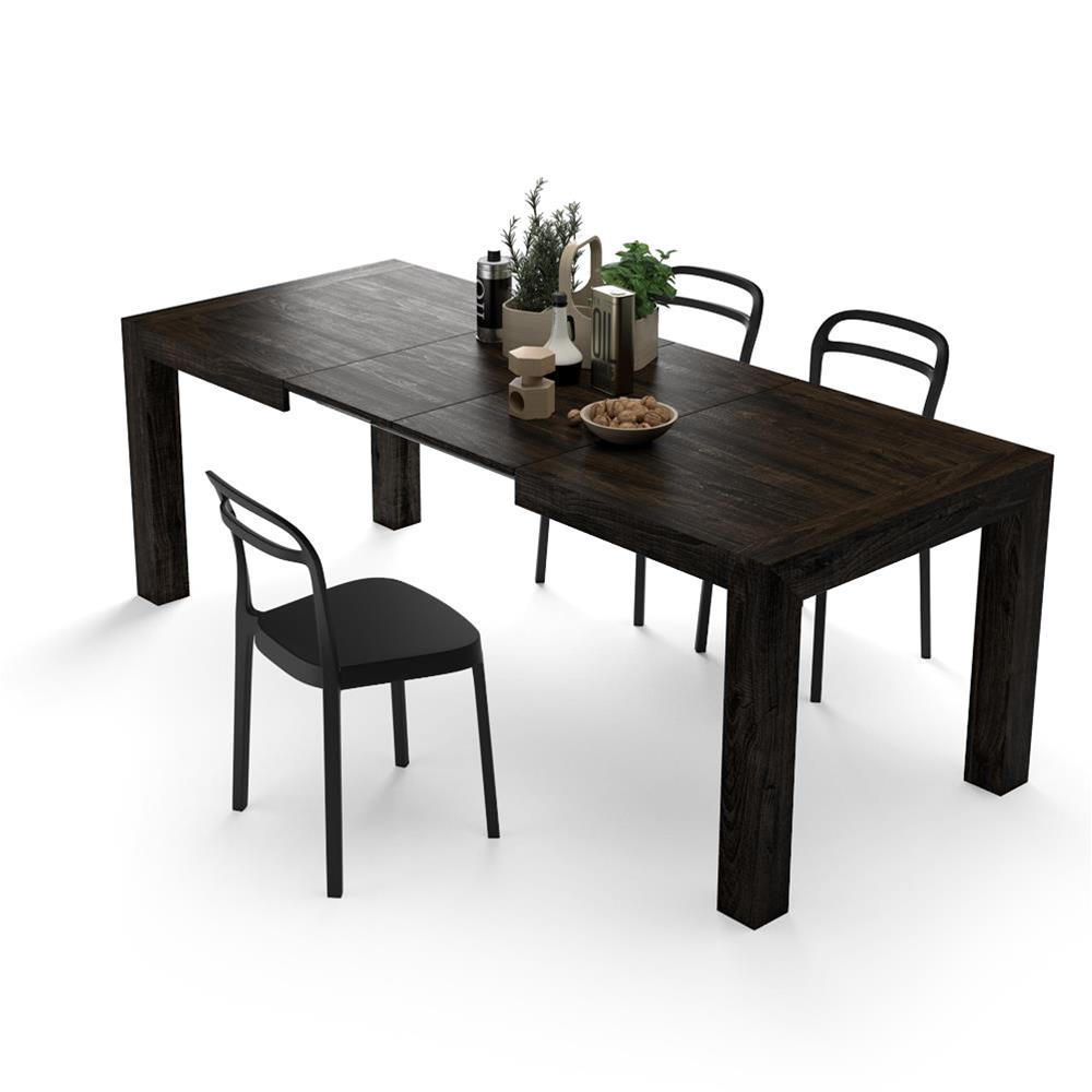 Tavolo allungabile moderno iacopo rovere scuro mobili for Tavolo allungabile rovere