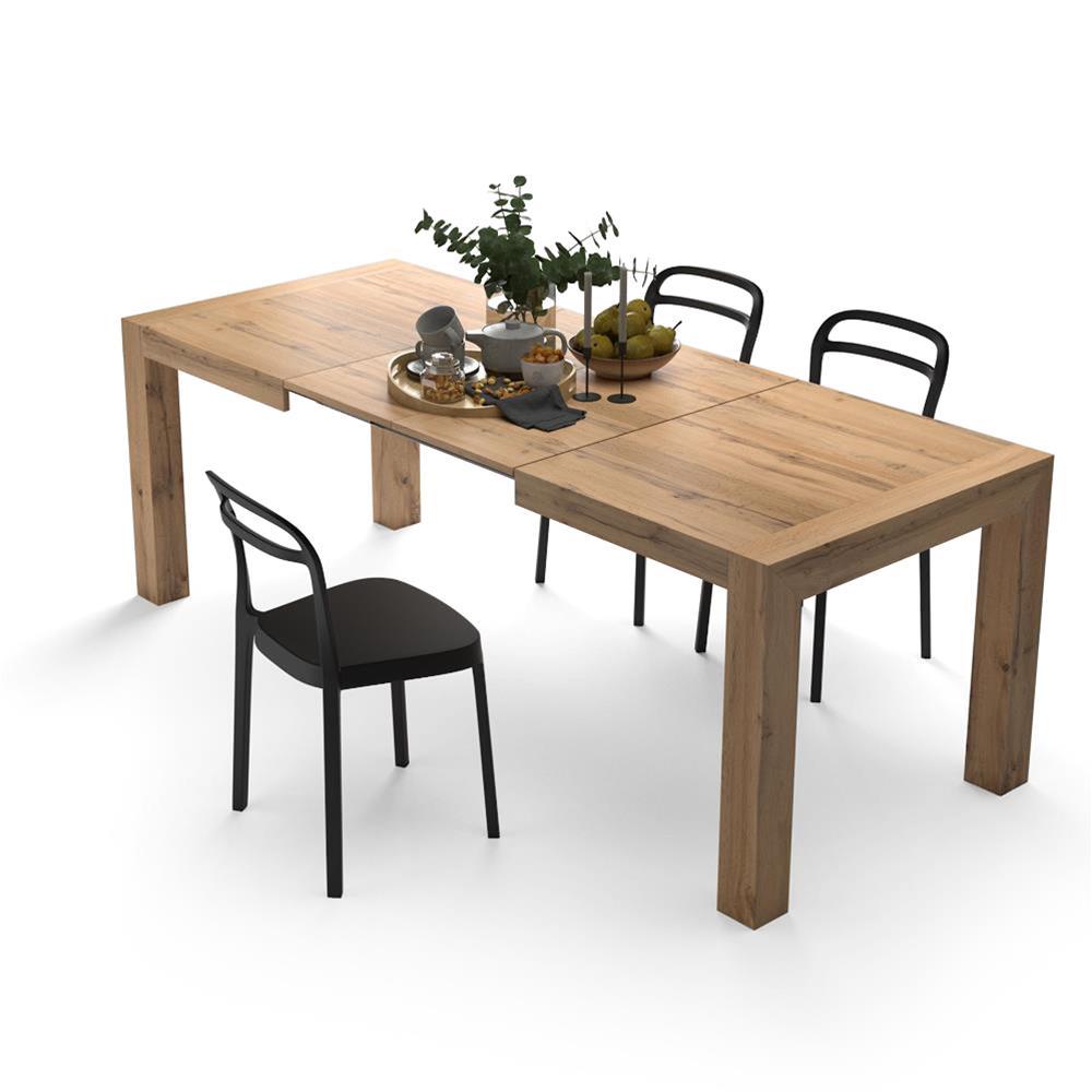 Mesa de cocina extensible, modelo Iacopo, color Madera Rustica ...