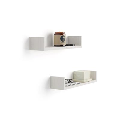 "A Pair of ""U""-shaped Shelves, Iacopo, in Laminate-faced White Ash"