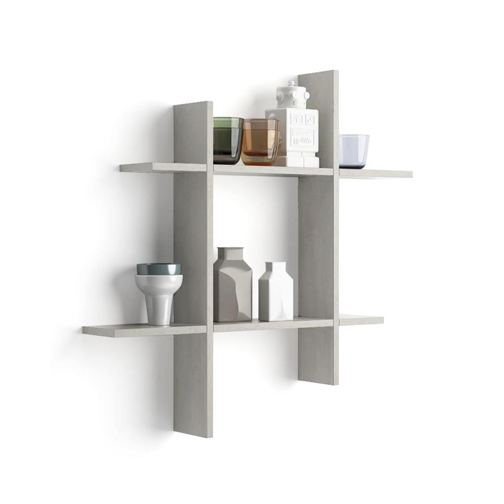 80x15 Angelica Shelves, Grey Concrete effect #