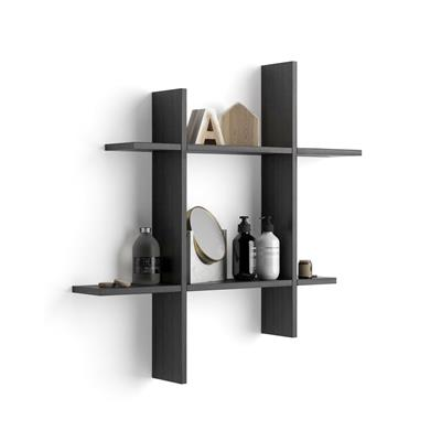 80x15 Angelica Black Ash Shelves #