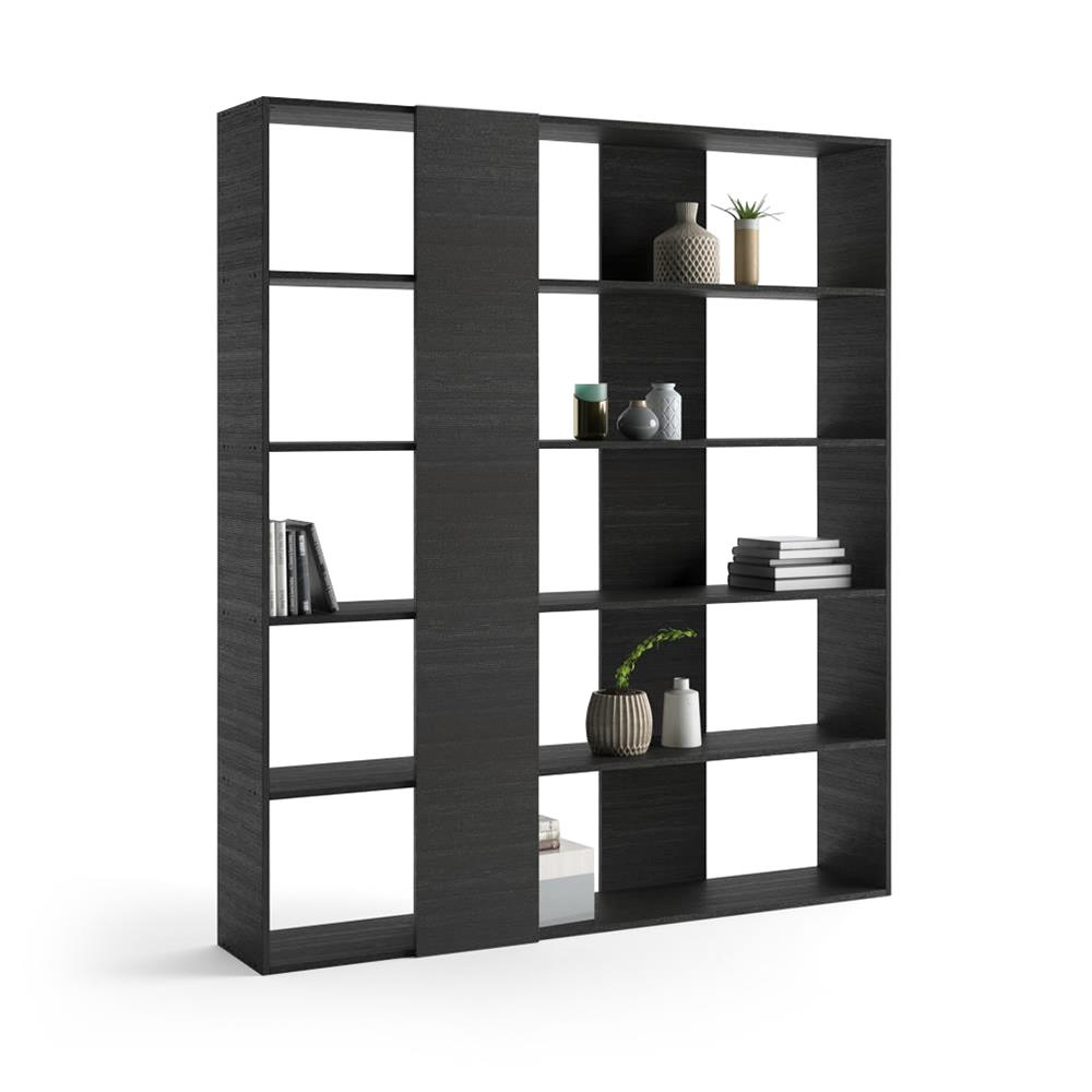 Bookcase, Rachele, Laminate-faced, Black Ash