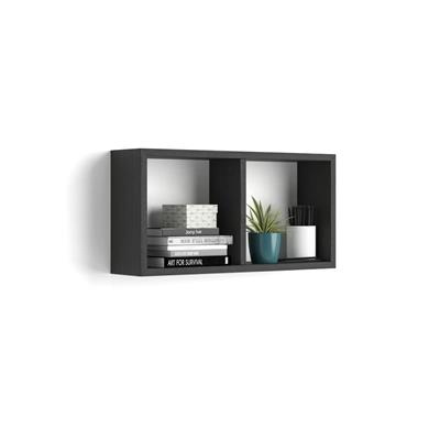 Wall-mounted cube shelves, First, Laminate-faced, Black Ash