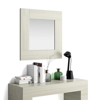 Square wall-mounted mirror, Evolution, Pearled Elm