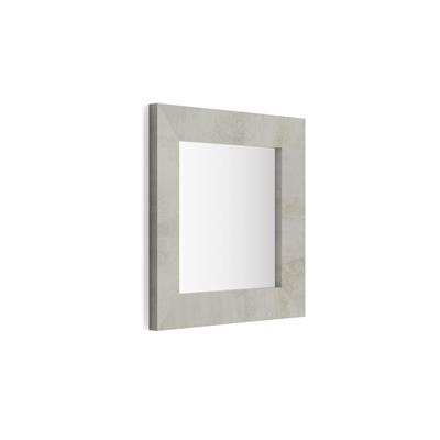 Square wall-mounted mirror, Grey Concrete effect frame, Giuditta 65x65