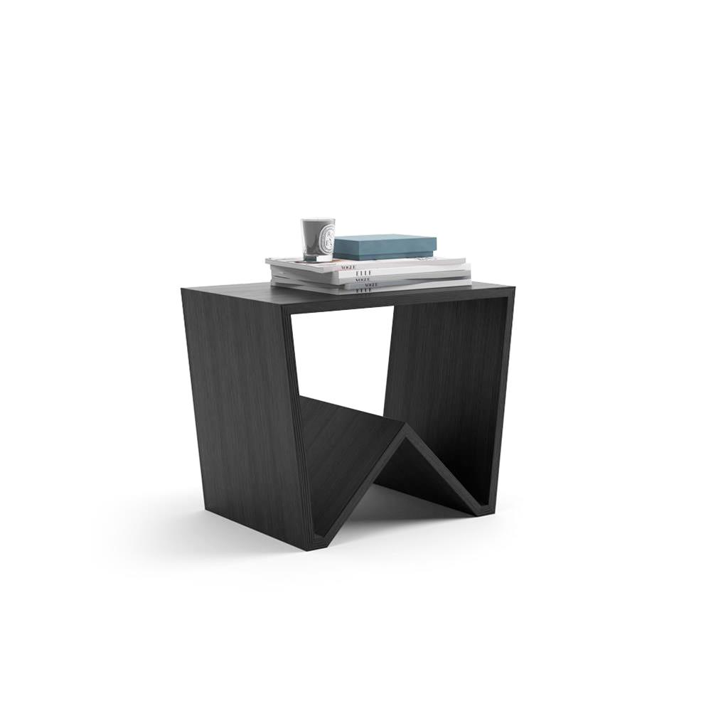 - Modern Coffee Table, Emma, Black Ash Mobili Fiver